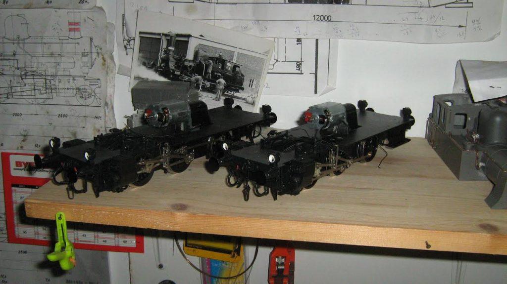 Tikøb Støberi's DSB litra F undervogn.