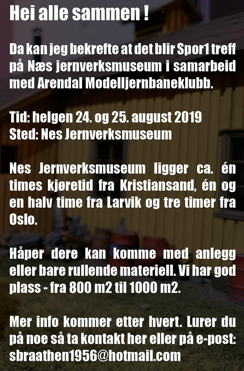 Spor1 teff i Nes - 2019