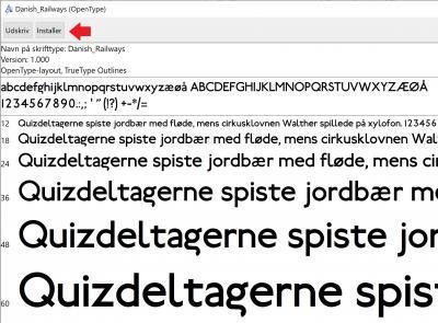 DSB font