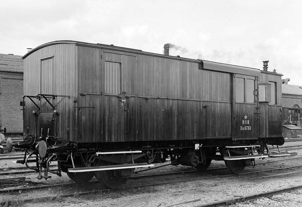 DSB litra Eh 6783 rejsegodsvogn - Danmarks Jernbanemuseum
