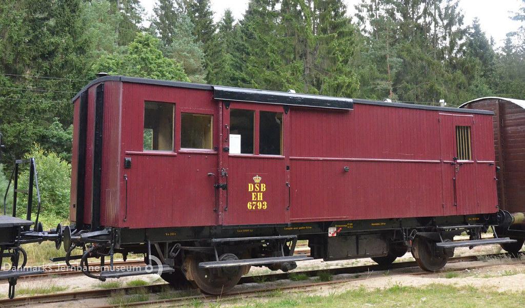 DSB litra Eh 6793 rejsegodsvogn - Danmarks Jernbanemuseum