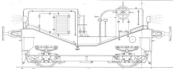 Frichs traktor tegning - Arkiv Steffen Dresler