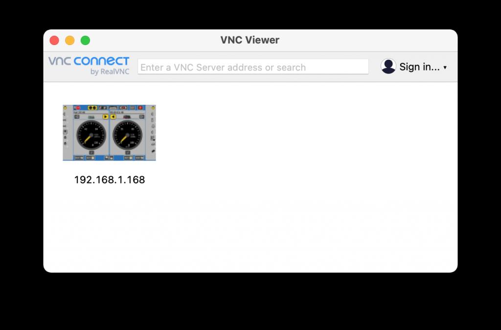 ECoS fjernstyring med VNC-Viewer klar til brug
