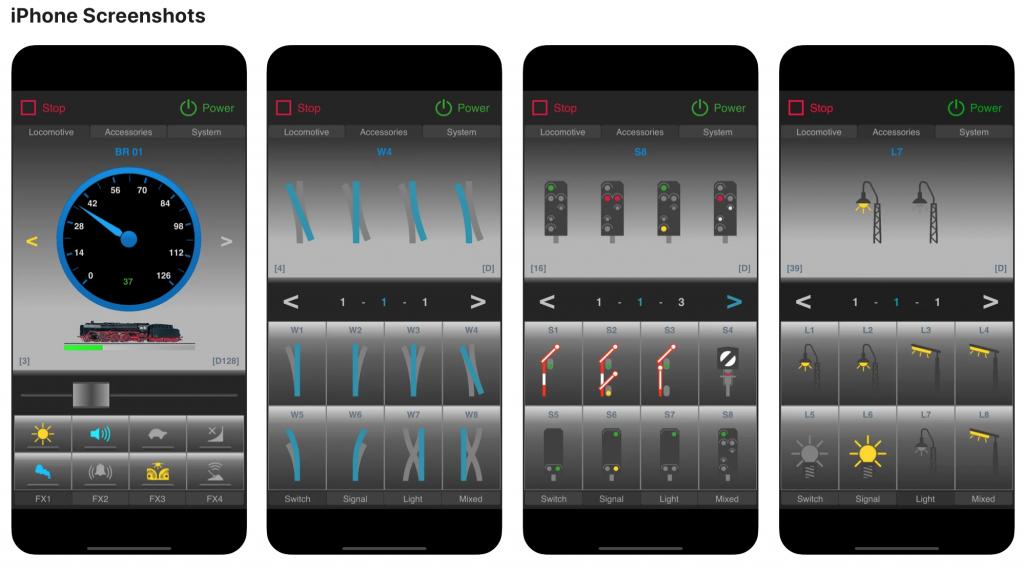 RailEvos skærmbilleder på iPhone