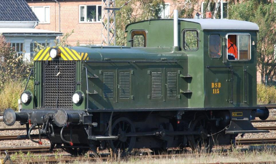 DSB Ardelt Traktor 115 - Foto: Danmarks Jernbanemuseum / Jernbanekilder.dk